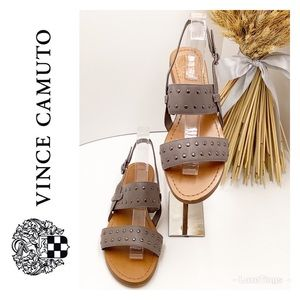 {Vince Camuto} Rickita Studded Leather Sandals